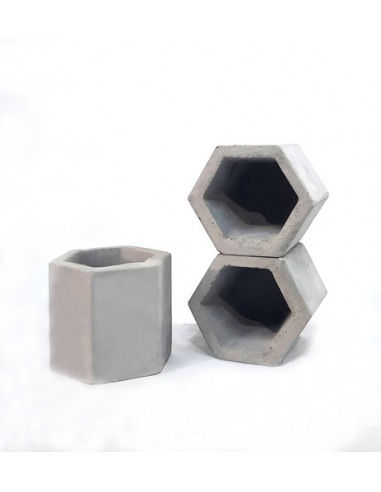 721380-MLA45866166700_052021,Maceta Hexagonal 10x10, Promo 3 Unidades